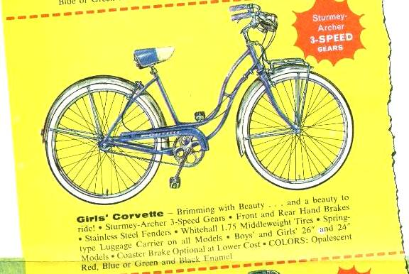 1957 schwinn girls corvete