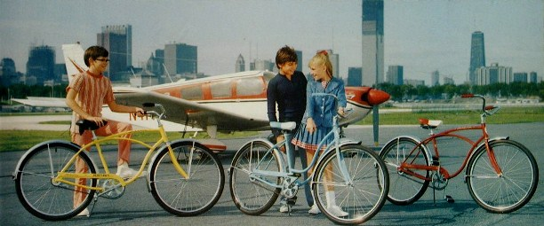 1973 schwinn heavy duti, hollywood and typhoon