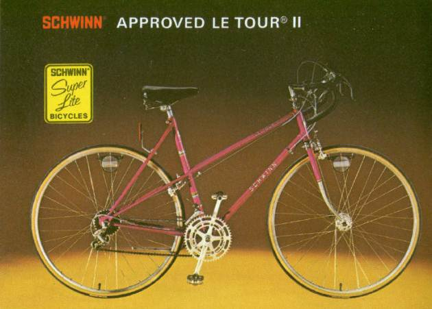 1977 schwinn approved le tour 2 for girls