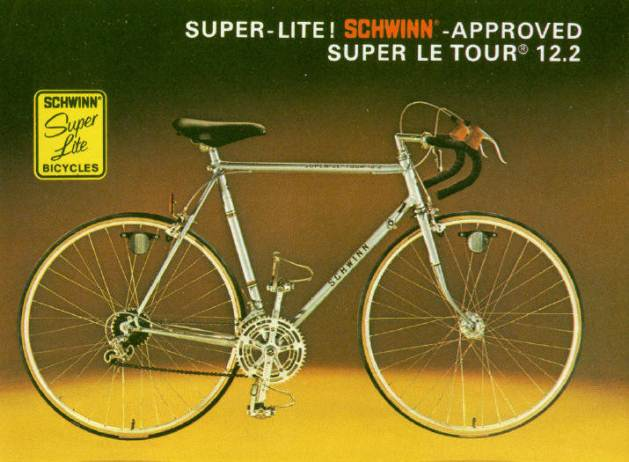 1977 schwinn  approved super le tour