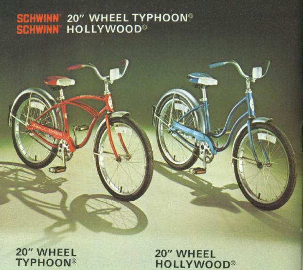 1977 schwinn typhoon and hollywood 20 inch
