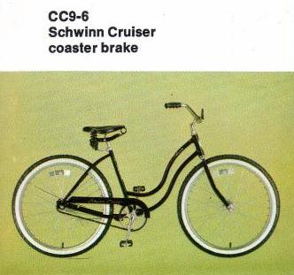 1980 schwinn cruiser coaster brake