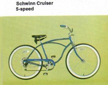 1980 schwinn deluxe cruiser 5 speed