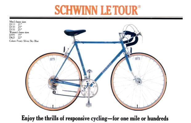 Colombus Tenax Details about  /1985 Schwinn Le Tour Luxe Touring Road Bike 21 inch frame