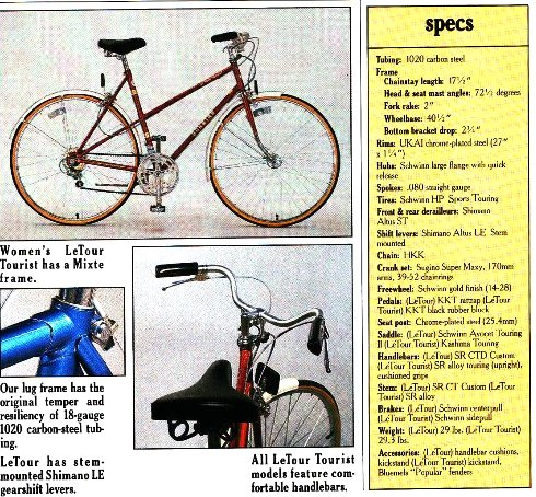 The Schwinn Letour | 1974 to 1988