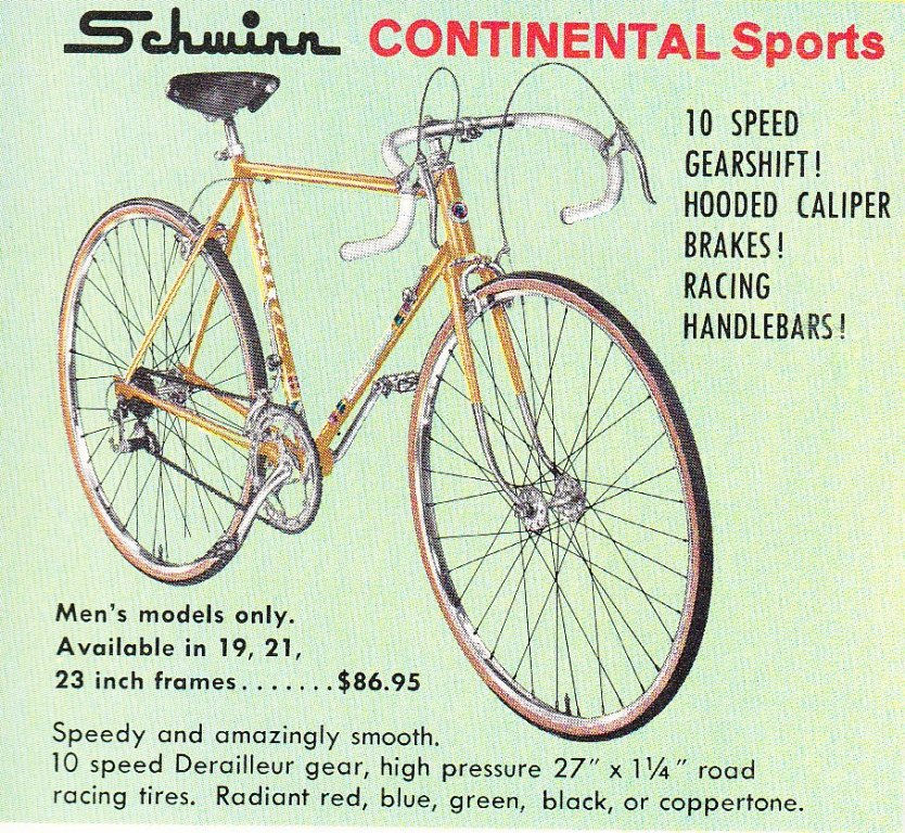 The Schwinn Continentals | 1946 to 1982